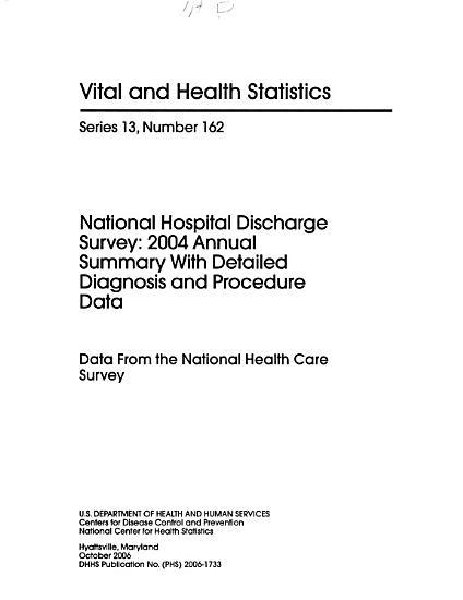 National Hospital Discharge Survey PDF
