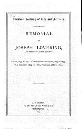 Memorial of Joseph Lovering, Late President of the Academy