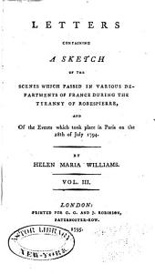Sketch of the Politics of France, 1793-94: Volume 3