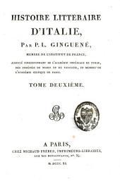 Histoire littéraire d'Italie: 2