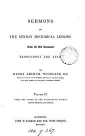 Sermons on the Sunday historical lessons from the Old Testament
