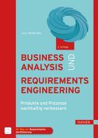 Business Analysis und Requirements Engineering PDF