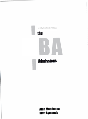 Getting the MBA Admissions Edge PDF