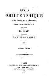 Revue philosophique de la France et de l'étranger: Volume17