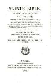 Sainte Bible en latin et en français: ouvrage enrichi de cartes géographiques et de figures, Volume8