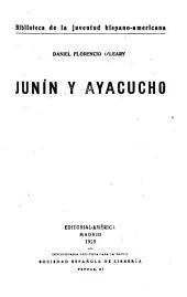 Junín y Ayacucho