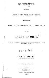 Documents  Including Messages and Other Communications  Made to the     General Assembly of the State of Ohio PDF