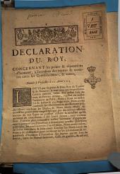 Declaration du roy, concernant les peines & réparations d'honneur, à l'occasion des injures & menaces entre les gentilshommes, & autres. Donné à Versailles le 12. avril 1723