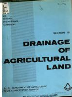 SCS National Engineering Handbook  chapter 1  Soil plant water relationship  chapter 3  Planning farm irrigation systems  chapter 4  Border irrigation  chapter 6  Contour levee irrigation  chapter 9 Measurement of irrigation water  chapter 11  Sprinkler irrigation  chapter 12  Land leveling PDF