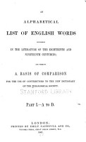 An Alphabetical List of English Words Occurring in the Literature of the Eighteenth and Nineteenth Centuries PDF