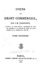 Cours de droit commercial: Volume2