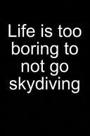 Life? Better Go Skydiving