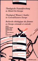 Recherche th  ologique des femmes en Europe orientale et centrale PDF