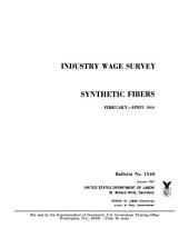Industry wage survey: Synthetic fibers