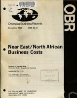 Near East North African Business Costs PDF