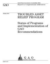 Troubled Asset Relief Program: Status of Programs and Implementation of GAO Recommendations