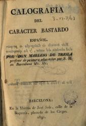 Caligrafiá del caracter bastardo español