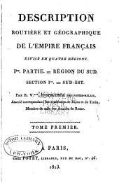 Description routière et géographique de l'empire Français divisé en quatre régions: Volume4