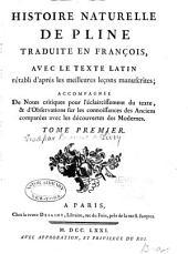 Histoire naturelle de Pline: Volume1