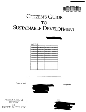 Citizen s Guide to Sustainable Development PDF
