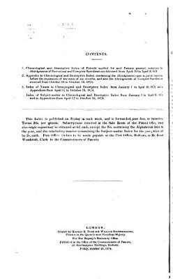 Descriptive index  afterw   Chronological and descriptive index of patents applied for and patents granted  by B  Woodcroft PDF