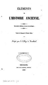 Eléments de l'histoire ancienne