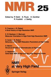 NMR at Very High Field