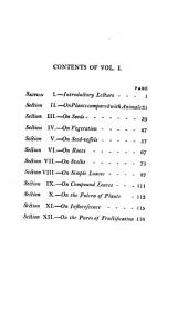 Lectures on Botany, as Delivered in the Botanic Garden at Lambeth: Volume 1