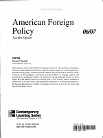 Annual Editions  American Foreign Policy PDF