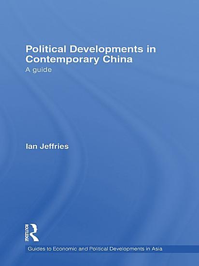 Political Developments in Contemporary China PDF
