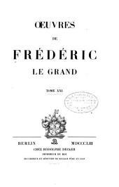 Oeuvres de Frédéric le Grand ...: Correspondance