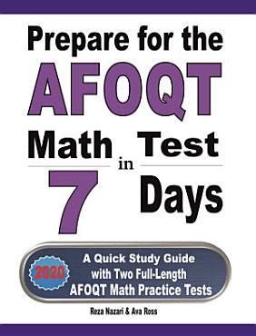 Prepare for the AFOQT Math Test in 7 Days PDF