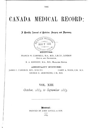 The Canada Medical Record