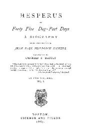 Hesperus or Forty-Five Dog-Post-Days
