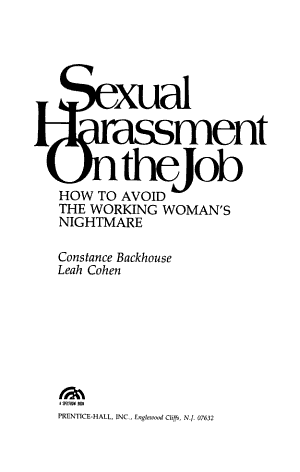 Sexual Harassment on the Job