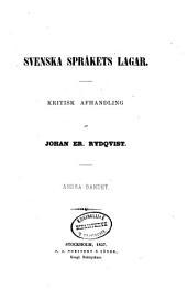 Svenska språkets lagar: dl.,1 bd. III: Ordbok