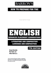 Barron S How To Prepare For The Ap English Advanced Placement Examinations Book PDF
