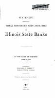 Statement Showing Total Resources and Liabilities of Illinois State Banks PDF