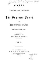 Cases Argued and Adjudged in the Supreme Court of the United States: Volume 2