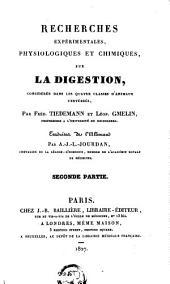 Recherches expérimentales: physiologiques et chimiques, sur la digestion, considérée dans les quatré classes d'animaux vertébrés, Volume2