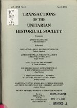 Transactions of the Unitarian Historical Society