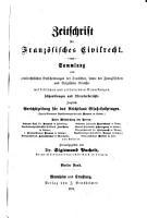 Zeitschrift f  r franz  sisches Civilrecht PDF