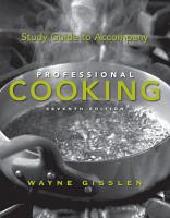 Study Guide to Accompany Professional Cooking PDF