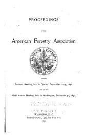 Proceedings of the American Forestry Association ...: Volume 9