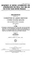 Department of Defense Authorization for Appropriations for Fiscal Year 1998 and the Future Years Defense Program  Readiness PDF
