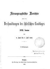 Verhandlungen. Stenographische Berichte: Band 18