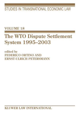 The WTO Dispute Settlement System  1995 2003 PDF