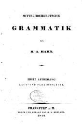 Mittlehochdeutsche grammatik