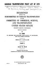 Railroad transportation policy act of 1979