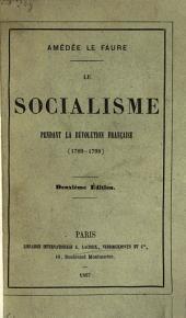 Le socialisme pendant la révolution française, (1789-1798)